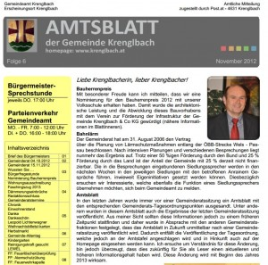 Gemeinderatssitzungen Krenglbach - November 2012